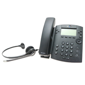 BT/Polycom VVX 301 6 Line Business Desktop VoIP Phone, LCD Display, Headset