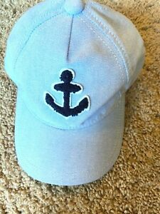 Janie and Jack Boys Anchor Baseball Cap Boating Size 12 24 Months NEW $27 VALUE