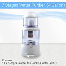 Max Water Usa 4 Gallon Countertop Ceramic Ph Filter Purifier Bpa Free