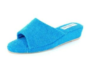Slippers-Slippers La Riposella 201 Wedge Low Sponge With Turquoise