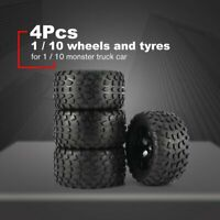 4Pcs 130mm Wheel Rim Tires for 1/10 Monster Truck Racing RC Car Accessories }