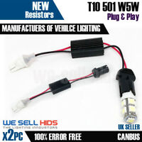 2 x HARD T10 501 W5W CANBUS NO ERROR LED Sidelight Load Resistors free