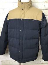 Patagonia Bivy Down Jacket Men's Size XL Navy Beige Color