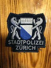 SWISS SWITZERLAND VINTAGE PATCH POLICE POLIZEI CANTONE ZURICH - ORIGINAL!