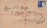NSW39) New South Wales 1903 uprated postal stationery cover to Germany