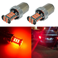 Alla Lighting 1157 3020 30-LED Brake Stop Tail Lights Bulbs Lamps,Vivid Red,2pcs