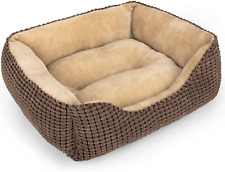 New listing Mixjoy Dog Bed for Large Medium Small Dogs, Rectangle Washable Sleeping Puppy Be