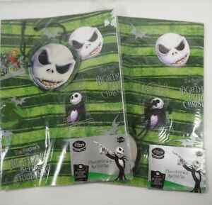 Vintage Nightmare Before Christmas Disney Gift Wrap & Tags Wrapping Paper 90s X2