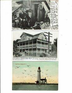 3 Card New York Lot, Charley the Hermit, Wells Hotel, Oswego Lighthouse!