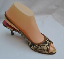 KATE SPADE NEW YORK AUTH $399 Women's Snake Skin Leather Slingback Size 7.5