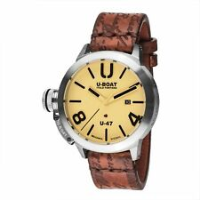 U-Boat Classico Automatic Watch Stainless Steel 316l Beige 47mm 8106