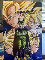 Chris Sabat, Schemmel, Clarke Signed 11x17 Poster Photo My Hero Academia Beckett
