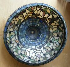 """Tiffany-Style Mission Craftsman Arts & Crafts Stained Slag Glass Lamp Shade 16"""""""