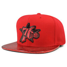 90b408bd797 Philadelphia 76ers TEAM STANDARD RADIATION Snapback Mitchell   Ness NBA Hat-  Red