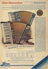 Ernst Hess Klingenthal Harmonikas Akkordeon Piano Katalog Prospekt 1938