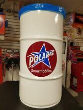 POLARIS SALES/SERVICE VINTAGE RETRO STYLE 16 GALLON COLD ROLLED STEEL TRASH CAN
