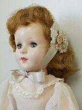 """Vintage American Character 17"""" Sweet Sue Hard Plastic Walker Doll w/Vinyl Arms"""