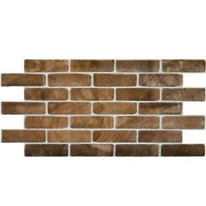 3D Old Brown Brick Panel PVC Interior Panels Kitchen Cladding