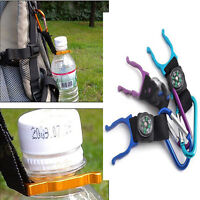 Competitive Outdoor Carabiner Water Holder Bottle Clip Strap with Compass SL