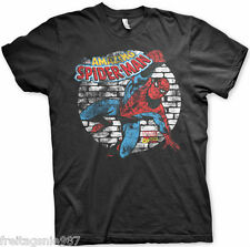SPIDERMAN Distressed MARVEL T-Shirt  camiseta cotton officially licensed