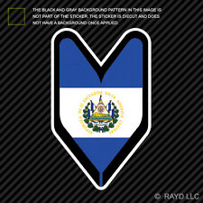 Salvadoran Driver Badge Sticker Die Cut Decal wakaba leaf soshinoya El Salvador