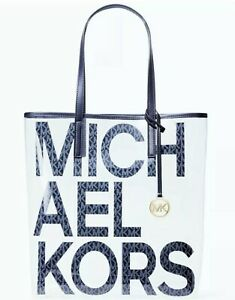 NWT Michael Kors Large Clear Transparent Tote Bag BLUE Sold Out