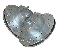 Front Double Drilled & Slotted Zinc Coated Premium Performance Rotors  ATL017546