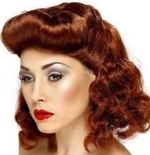 40V ANNI'40 GUERRA DONNA PIN UP Auburn Costume Parrucca RETAIL BOXED Nuova Smiffys