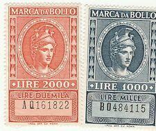 LOTTO MARCHE DA BOLLO A TASSA FISSA - LIRE 1000 e 2000 -  (14)