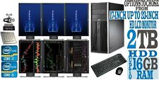 Forex Day Trading Computer full Set PC Intel i7 i5 16GB 2TB SIX 6 Monitors stock