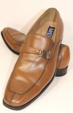 MADE Cam Newton Men's Brown Brushed Leather Slip-on Dress Loafers Shoes Size 9 D