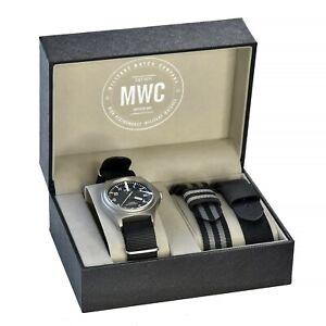 MWC Rare Titanium G10 Military Field Watch 300m Swiss Quartz Sapphire Luminova