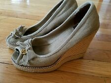 tory burch shoes ladies shoe size 8 wedge AUTHENTIC USED PRE OWNED