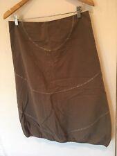 Ladies Mais il Est Ou Le Soleil Brown Knee Length Skirt Size 12 <SW1651