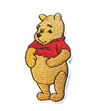 """Winnie The Pooh Patch Embroidered Iron On Applique Apx 1.50"""" X 2.80"""" Disney#20"""