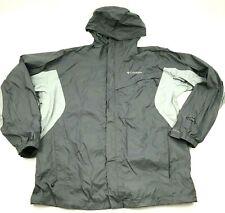 Columbia Jacket Size Large Gray Windbreaker Hooded Full Zip WATERPROOF OMNI-TECH