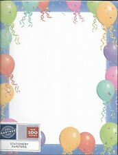 Colorful Balloons & Ribbons Designer Letter Computer Paper - 100 sheets