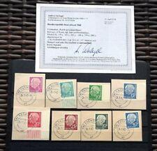 Echte Briefmarken aus Deutschland (ab 1945) als Satz mit BPP-Fotobefund