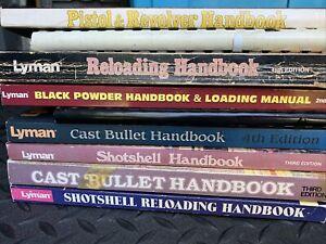 9 Piece Lot Reloading Handbook Manuals Lyman