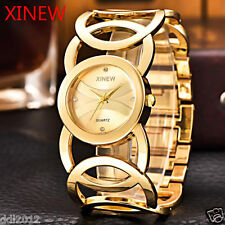 XINEW Fashion Waterproof Women Stainless Steel Analog Quartz Bracelet Watches