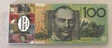 Aus Souvenir Play Money $100 $50 $20 $10 $5 dollar Note Shopping List 5 in 1