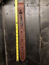 Heavy Duty Leather Off Side Billet Strap - Medium/Dark Oil / for Western Saddle