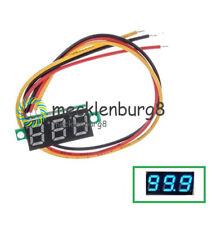 """1X 0.28"""" 3-Wire LED DC 0-100V Voltmeter Digital Display Voltage Panel Meter Blue"""