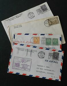 CANADA 4 First flight covers
