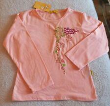t-shirt pull sweat fille rose saumon - taille 4 ans (neuf avec étiquette)