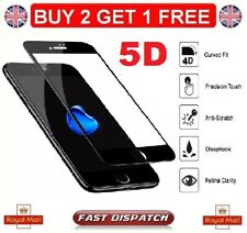 100 Genuine iPhone 8 4d Tempered Glass Film Screen Protector Black