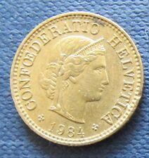 Schweizer Franken 1984 5 Rappen für Sammler aus Umlauf