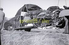 1952 Car Accident - Tow Truck on Roadside - Vintage Automobile Negative