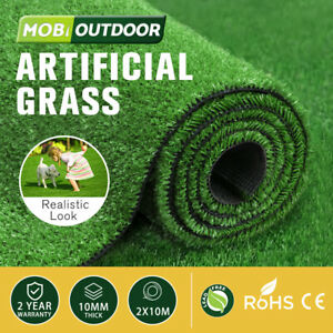 MOBI OUTDOOR Artificial Grass Synthetic Fake Turf 20SQM 10mm Plastic Olive Lawn