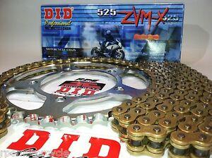 DUCATI 999 03-07 DID ZVMX Gold X-Ring CHAIN AND SPROCKETS KIT  Premium 525 Kit